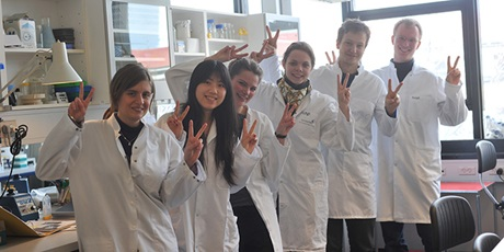 Team 2011 having a great day together in the lab